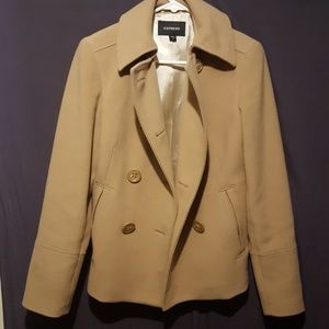 Woman's Express size 6 Tan peacoat excellent condi